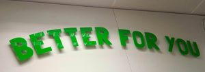flat cut acrylic letters, built up letters, led illuminated