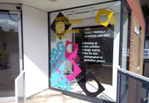 WINDOW GRAPHICS, optically clear vinyl