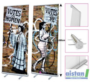 roll up banner, exhibition displays