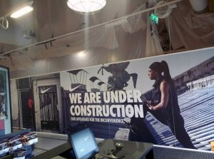 large format print, exhibition displays, wall graphics